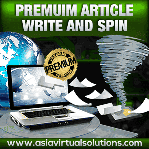 Premium Article Write and Spin