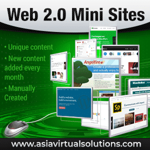 Web 2.0 Mini Sites creation service