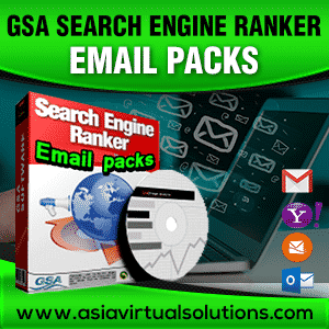 GSA Search Engine Ranker Email packs