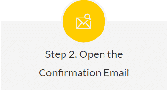 Sign up confirmation - Step 2