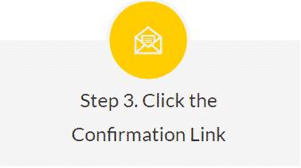 Sign up confirmation - Step 3