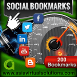 Asia Virtual Solutions 200 Social Bookmarks