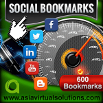 Asia Virtual Solutions 600 Social Bookmarks