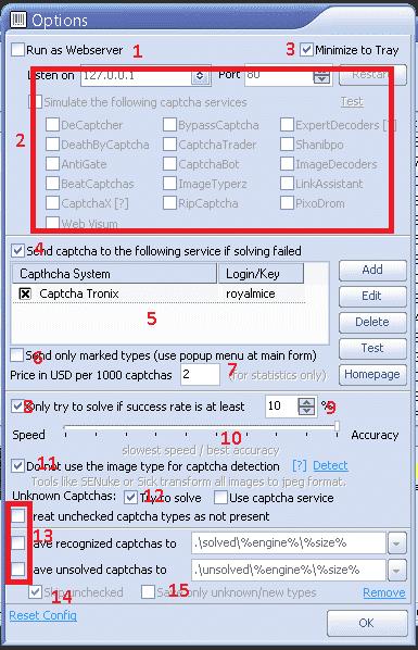 GSA Captcha Breaker - Options