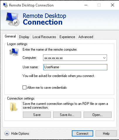 Remote Desktop Connection App