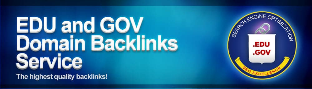 Edu and Gov Backlinks dominate