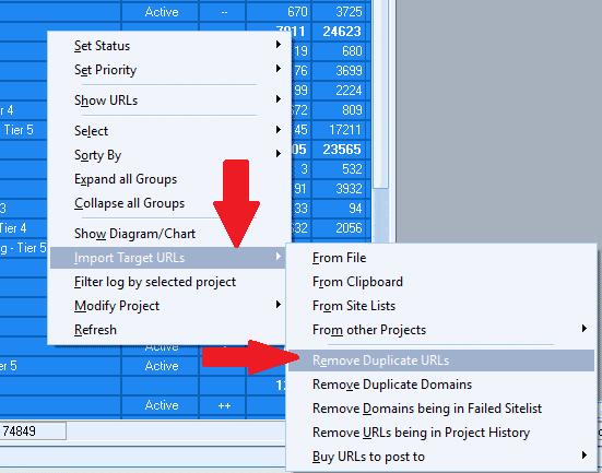 Remove Duplicate target URLs