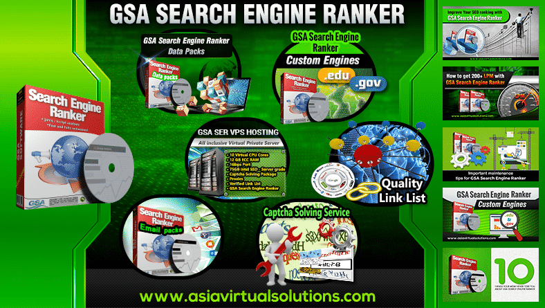 GSA Search Engine Ranker Products and Services