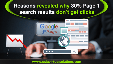 Reasons revealed why 30% Page 1 search results don't get clicks