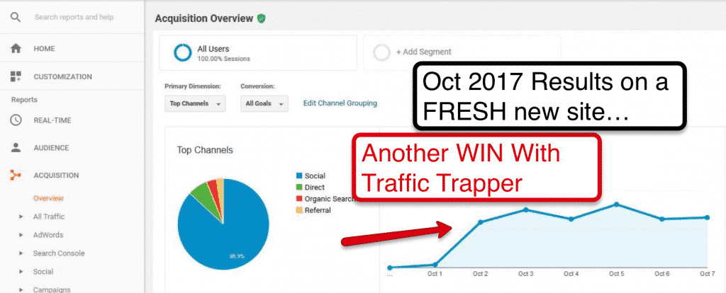 Traffic Trapper Google Analytics