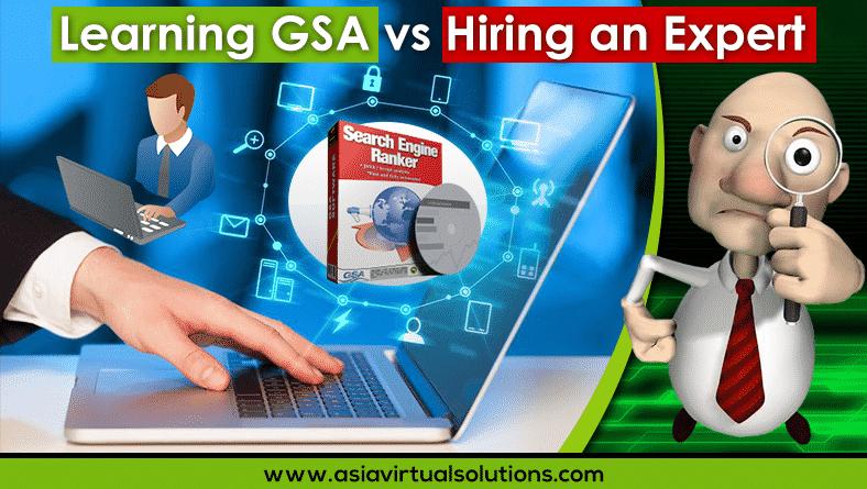 Learning GSA vs Hiring an expert
