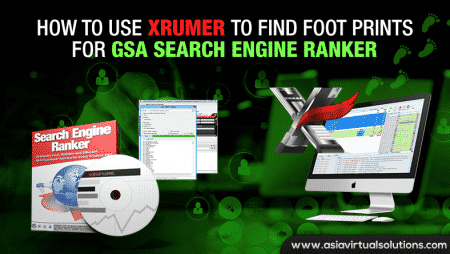 How to use Xrumer to find foot prints for GSA Search Engine Ranker