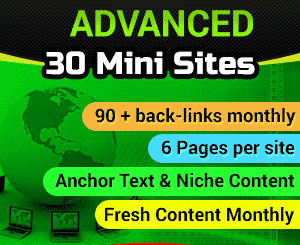 30 Web 2.0 Mini Sites - No price