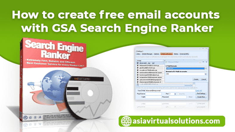 How to create free email accounts with GSA Search Engine Ranker